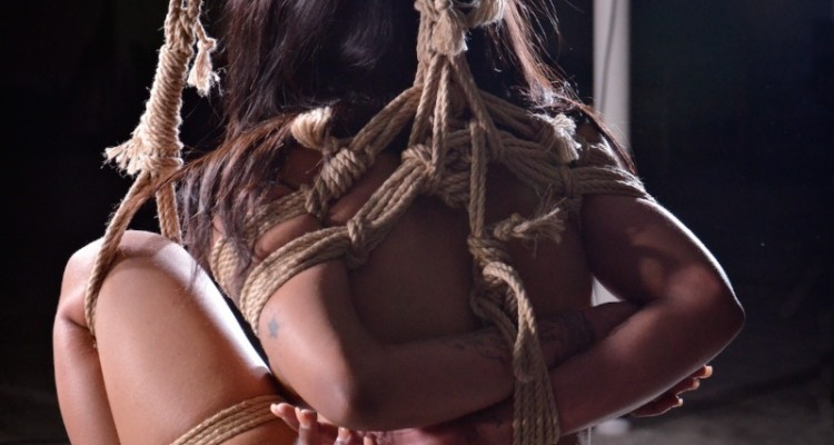 Beautiful rope bondage featuring Sasha Banks