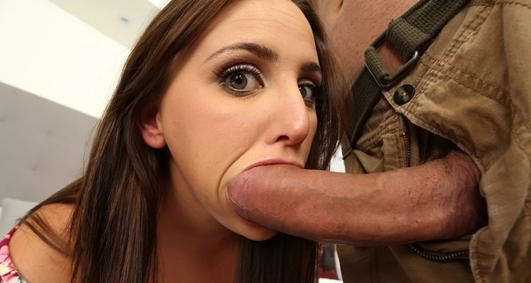 Hope Howell sucking on a monster dick at Teens Love Huge Cocks
