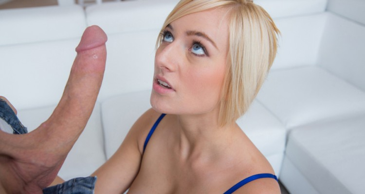 Kate England is shocked by the size of his cock