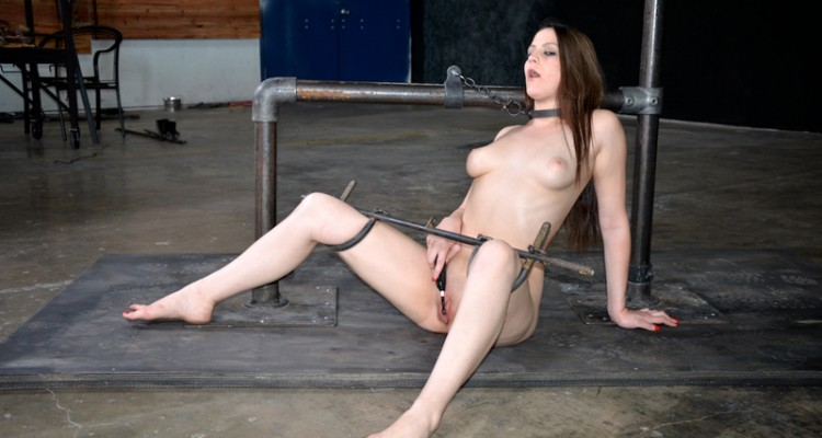 Addie Juniper is allowed to masturbate while spread